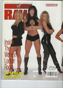 CHYNA, SABLE, DEBRA WWF RAW MAGAZINE MARCH 1999 w/VAL VENIS CENTERFOLD POSTER