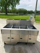 Pitco Sg14R-Us 3 Bank Fryer W/ dump and Filter Nat Gas 115 Volts 1Phase Tested