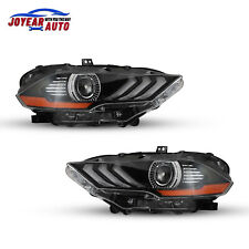 Headlights For 2018 2020 Ford Mustang Black Clear Headlamps Led Drl Front Lights Fits Mustang