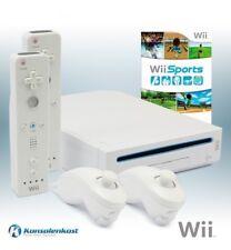 Nintendo Wii - Konsole #weiß + Wii Sports + 2 Original Remotes + Zub.