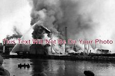 NF 4 - Fire At Clarkes Flour Mill, Great Yarmouth, Norfolk c1920s - 6x4 Photo