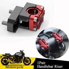 1Pair 22mm/28mm Motorcycle Dirt Bike Handlebar Riser Red + Black Adjustable Code