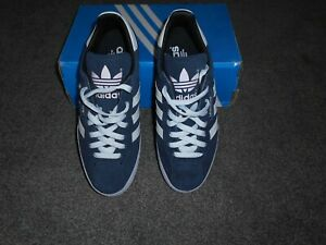 ADIDAS NAVY SUEDE SAMBA TRAINERS - UK SIZE 7 - NEW IN BOX