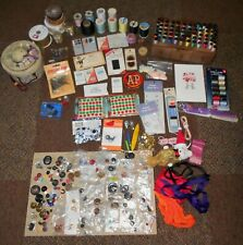 Large Lot Sewing Craft Items Cases Buttons Needles Estate Find some Vintage