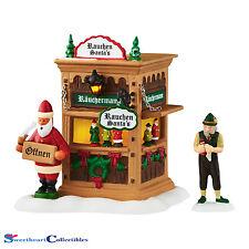 Dept 56 Alpine Village 4049188 Xmas Market, Holiday Smokr Booth LED