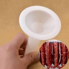 Sausage Making Funnel Stuffer Filler Maker Tube for Size 10 Plastic Manual Tool