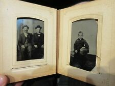 CDV TINTYPE Cabinet Photo Album Ashland Wooster Loudonville Ohio Metcalf Leach