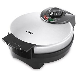 Oster Fresh Belgian Waffle Maker Stainless Steel Non Stick Delicious Large 8