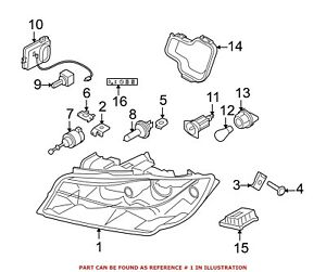For BMW Genuine Headlight Front Right 63117161670