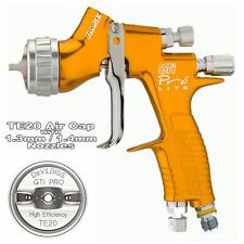 DeVilbiss GTI Pro Lite Spray Gun *gold* Clear Coat Te20 1.3 & 1.4mm