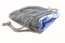 "BLUE SATIN LINED BLACK VELVET DICE BAG DRAWSTRING 3.5""W X 4""H MIX&MATCH & SAVE!"