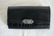 Mark Lifey Black Leather Organizer Clutch Wallet