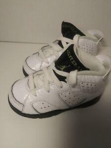 "Jordan Retro 6 ""Alligator"" White/Black Toddler Shoes 384667-110 Size 8c"