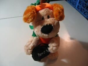 """10"""" plush singing and moving Trick or Treat Puppy Dog, good working condition"""
