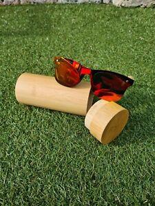 Bamboo Sunglasses polarised uv400 with wooden case