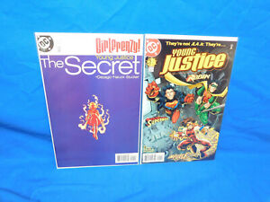 Young Justice #1 & The Secret 1998 DC Comics Superboy Robin 1st Appearance VF/NM