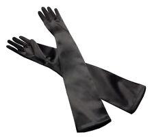 AGENT PROVOCATEUR Long Black Satin Gloves Size AP 4 BNWT