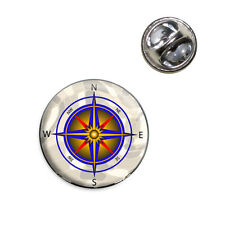 Compass Nautical North South East West Lapel Hat Tie Pin Tack