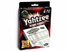 YAHTZEE SCORE CARDS BY HASBRO DICE FAMILY BOARD TRAVEL NOVELTY TOY KIDS HOBBY