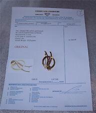 Antique Vintage Birk's 750- 18K Yellow Gold & Ruby Brooch Not Scrap Value $1500