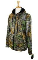 Mossy Oak Men's Hoodie Performance Camo Poly Tech Jacket Full Zip Front Large