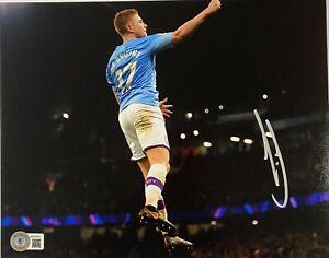 Manchester City Kevin De Bruyne Signed 8x10 Photo Auto BAS Beckett