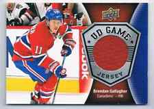 2016-17 UD GAME JERSEYS BRENDAN GALLAGHER JERSEY 1 COLOR MONTREAL CANADIENS