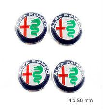 X4 Alfa Romeo Centre de roue Cache Moyeu Autocollants 50 mm Mito 147 logo 2015