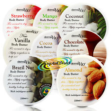 8x Derma V10 Body Butter Coconut Chocolate Almond Mango Cocoa Strawberry Vanilla