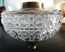 Magnifique et grand  Reservoir 16.5cm lampe à pétrole Baccarat Diamant bambou.