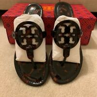 Tory Burch MILLER Tortoise Shell Patent Leather - Many Sizes Avail (NewInBox)