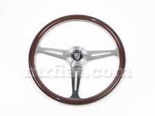 Porsche 356 911 912 914 924 390 mm  Steering Wheel Silver Horn Button