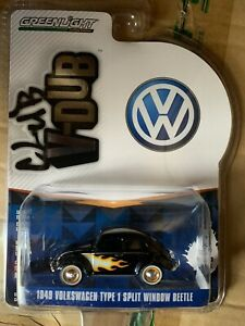 Greenlight  Vee Dub 1949 Volkswagen Beetle.  Black with flames