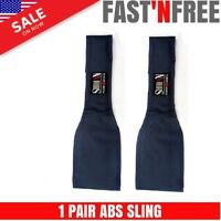 BLUE  AB Straps/Slings 'ECLIPSE' 17inch Leg Raises Chinning Bar Attachment