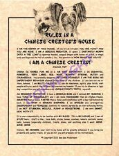 Rules In A Chinese Crested's House