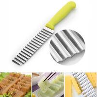 Kartoffelschneider wellen form Messer Edelstahl Gemüse Obst schneiden Küche Tool