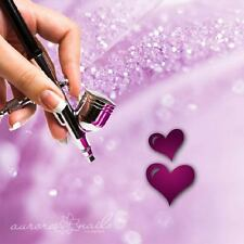 Aerógrafo plantillas adhesivas v034 Nail Art - Amor Corazones HERZ Boda 80
