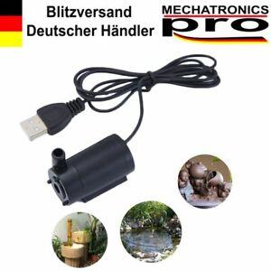USB Mini Tauchpumpe Wasserpumpe Brunnen Bewässerung Aquarium Pumpe 3-5V 70-120L/
