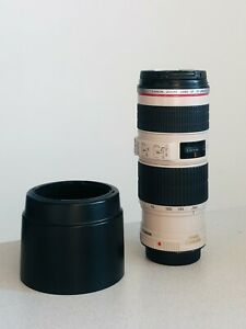Canon 70-200 f/4 IS USM EF Mount with Hood *Excellent*FREE SHIPPING