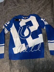Men's NFL Team Apparel Indianapolis Colts Andrew Luck Acrylic Sweater Size M NWT