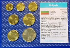 Bulgaria 10s - 10 leva 1992-1993 XF UNC Circulation Coin Set - World Currencies