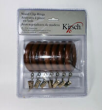 "NEW Kirsch Wood Classics Ring Clips 1 3/8"" pole Newell Rubbermaid"
