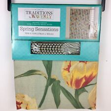 Traditions by Waverly Shower Curtain Set Spring Sensations with 12 Beaded Hooks