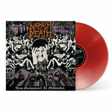 Napalm Death 'From Enslavement To Obliteration' Rouge Vinyl - NEU vinyle