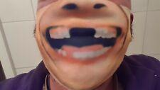 Funny , Lustig Schutz für Nase  Mund, Maske, zahnlos wiederverwendbar waschbar
