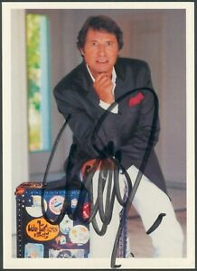 Original Udo Jürgens Autogramm signierte Postkarte, farbig, BMG, I/II