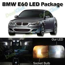 17 White Error Free LED Interior Lights Kits for 2004-2010 BMW E60 E61