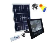 Faro Led 25W IP67 con Alimentazione Pannello Solare Regolabile Con Telecomando