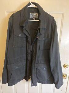 Levis Heavy Cotton Black Jacket XL Nice!