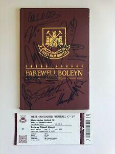 West Ham Utd Ex Players FAREWELL BOLEYN Programme & Ticket Signed AFTAL/UACC RD